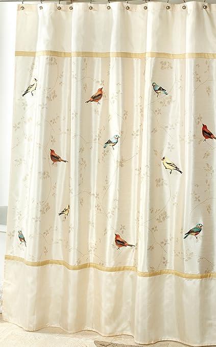 Avanti Linens Gilded Birds 72quot X Shower CurtainGold