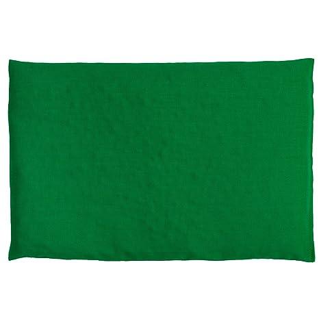 Almohada térmica de semillas 30x20cm verde | Saco térmico para ...