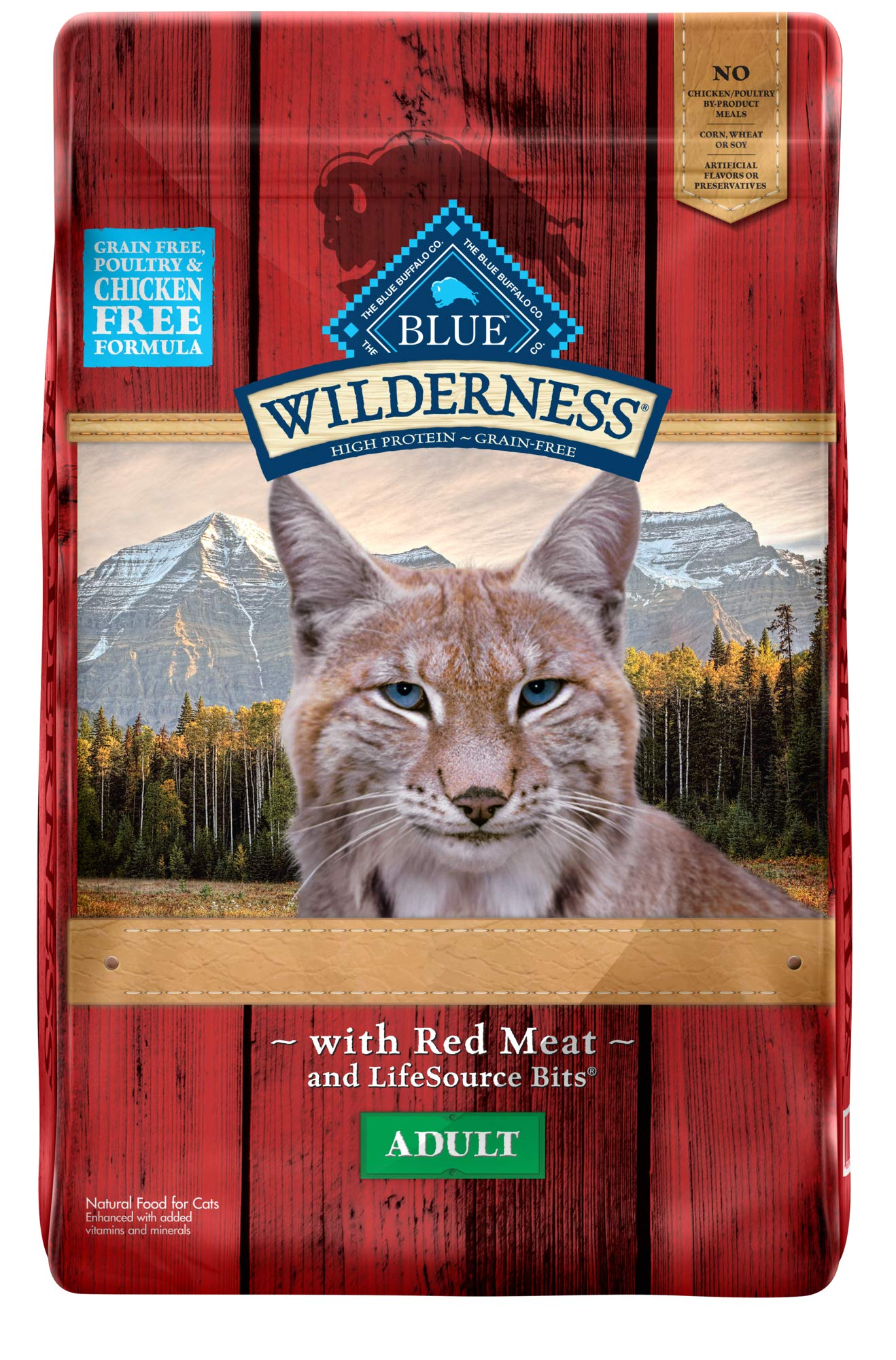 Blue Buffalo Wilderness Rocky Mountain Recipe High Protein Grain Free, Natural Adult Dry Cat Food, Red Meat 10-lb by Blue Buffalo