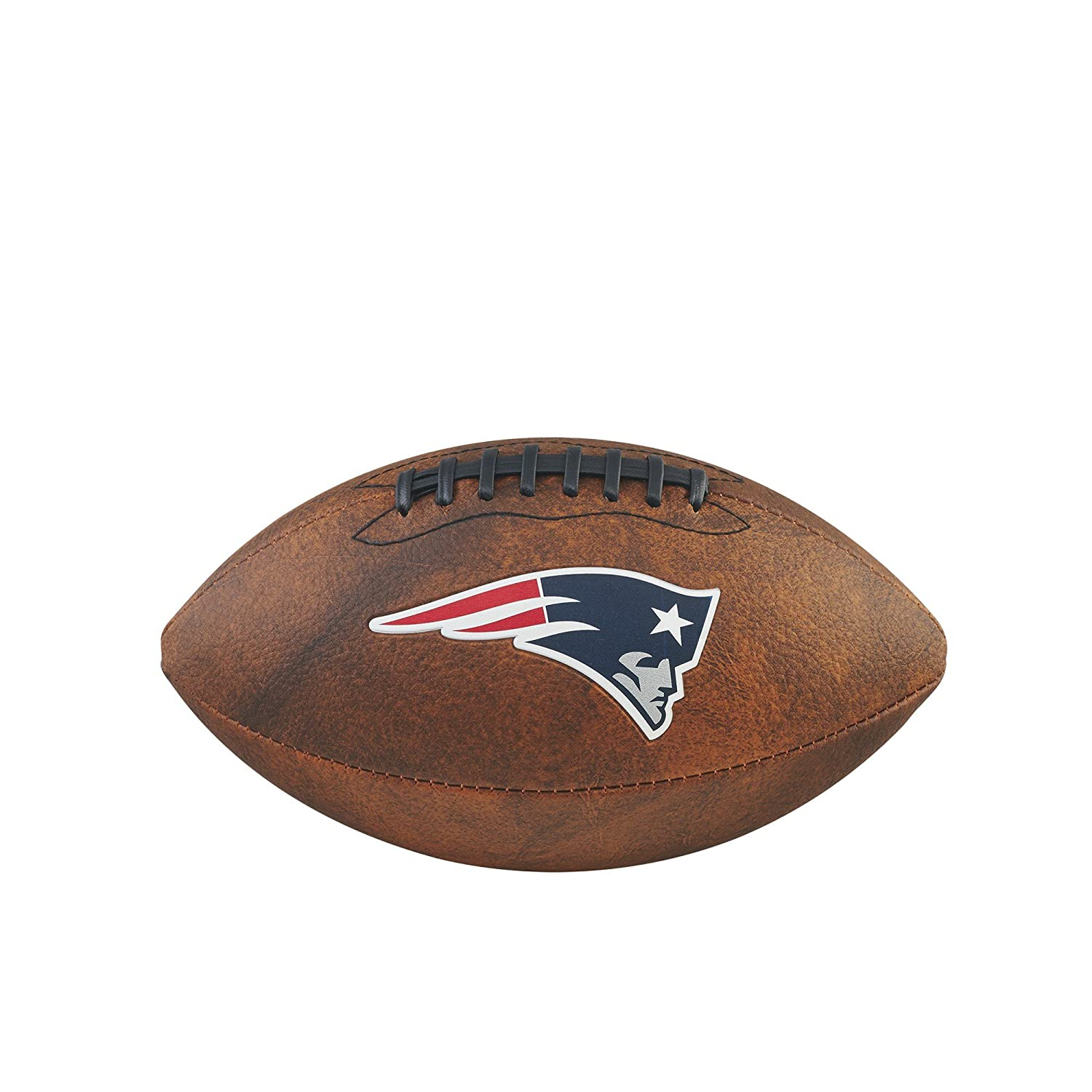 Game Master NFL New England Patriots Junior Wilson Throwback Football, 11-Inch, Brown Gulf Coast Sales WTF1539XBNE