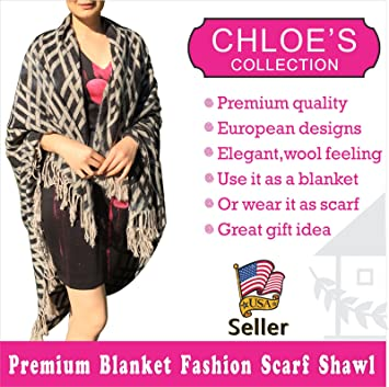 Premium Quality Luxury Blanket Hot Fashion Scarf Wrap Shawl Throw 50x60 Elegant