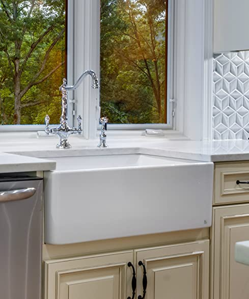 Finefixtures Sutton 30u0026quot; Fireclay Sink