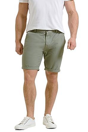 Threadbare Mens Basic Chino Summer Casual Designer Cotton Knee Length Shorts 9105329a6
