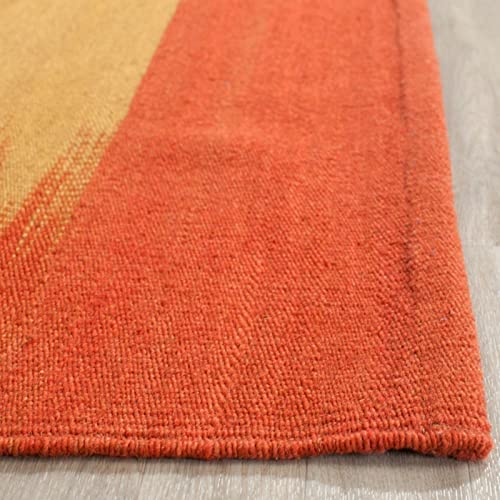 Safavieh Kilim Collection KLM947A Hand Woven Rust Premium Wool Area Rug 9' x 12'