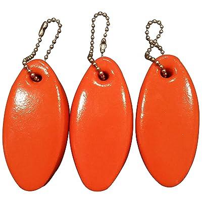 JQuad 3 Pack Vinyl Coated Orange Floating Keychain Key Floats -Made in The USA- (Orange): Automotive