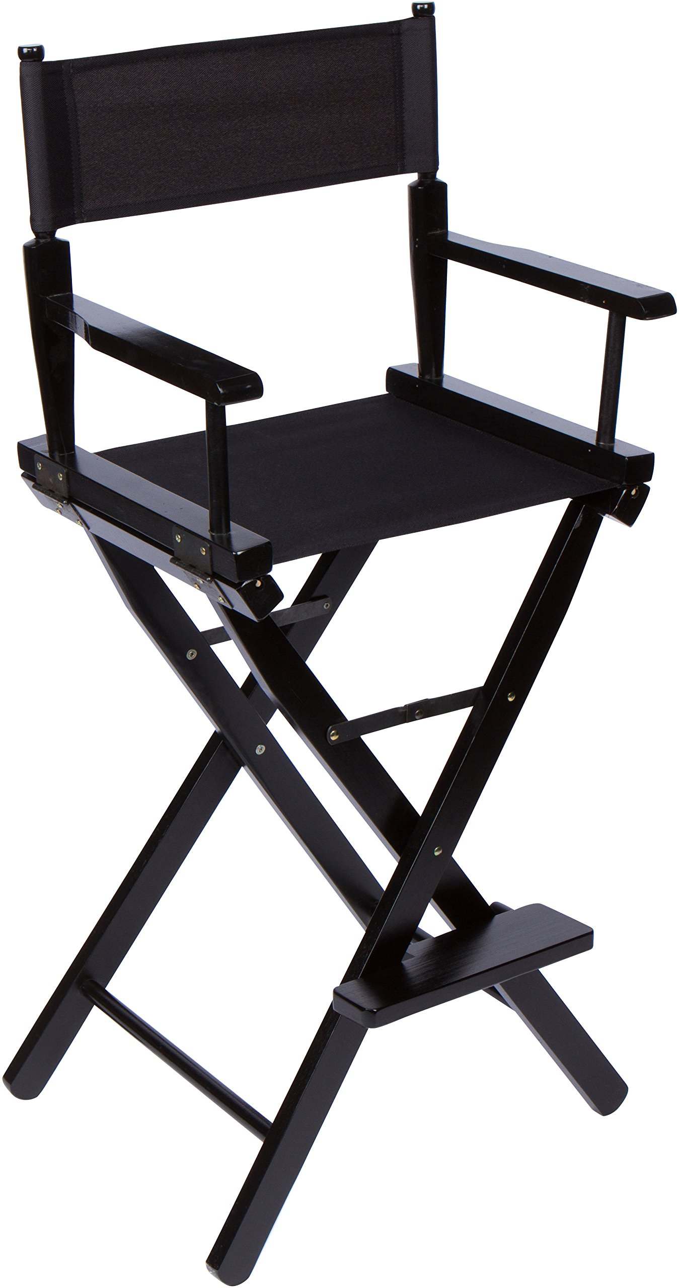 30'' Bar Height Director's Chair - Black Wood - By Trademark Innovations (Black)