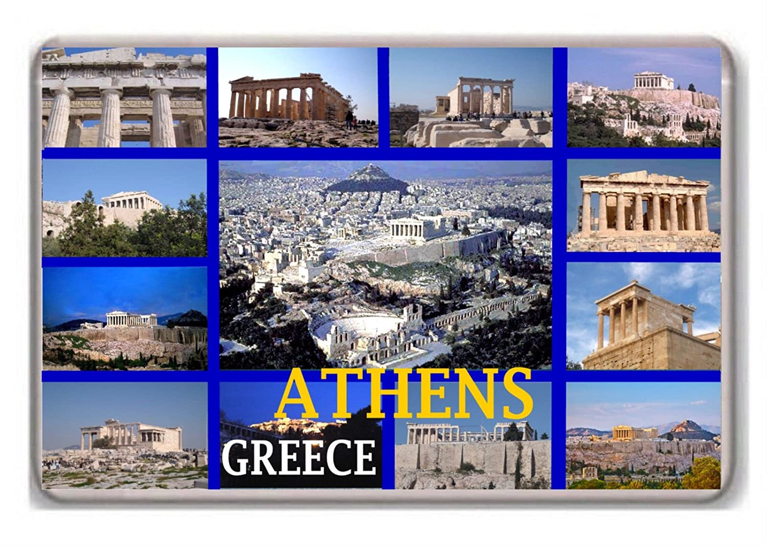 Athens Greece fridge magnet.!!!!!!! Photosiotas