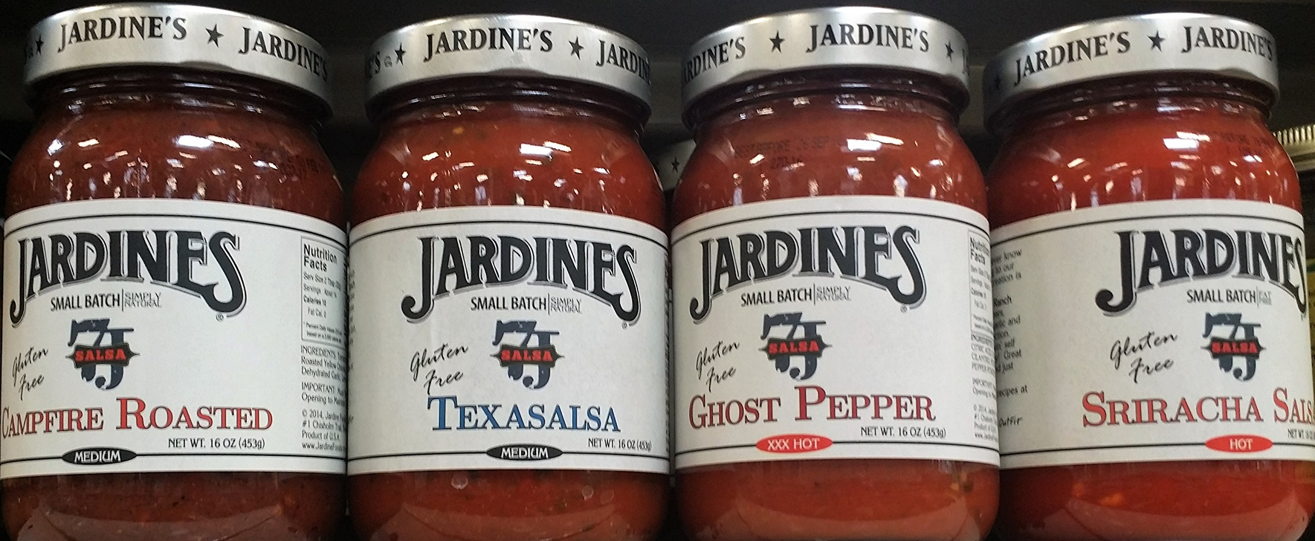 Jardine's Salsa Variety Pack 16 oz (Pack of 4) by 7J Ranch