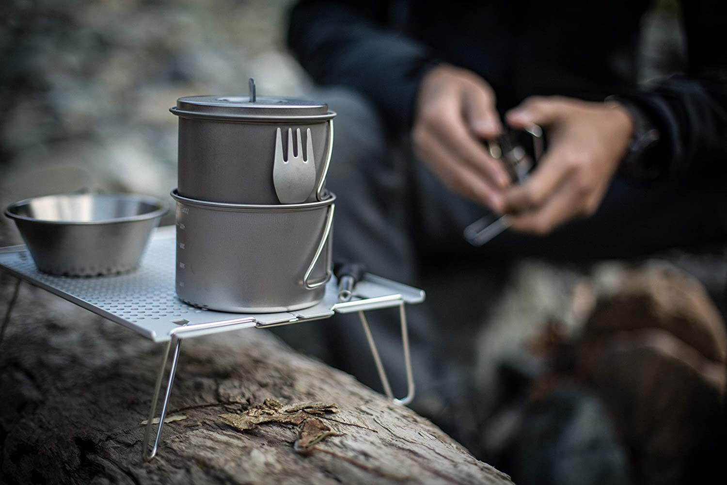 Japanese Titanium Made in Japan Lifetime Product Guarantee Ultralight and Compact for Camping and Backpacking SCS-0044TR Snow Peak Titanium Mini Solo
