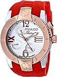 MULCO Unisex MW5-1877-063 ILUSION CRESCENT Analog Display Swiss Quartz Red Watch
