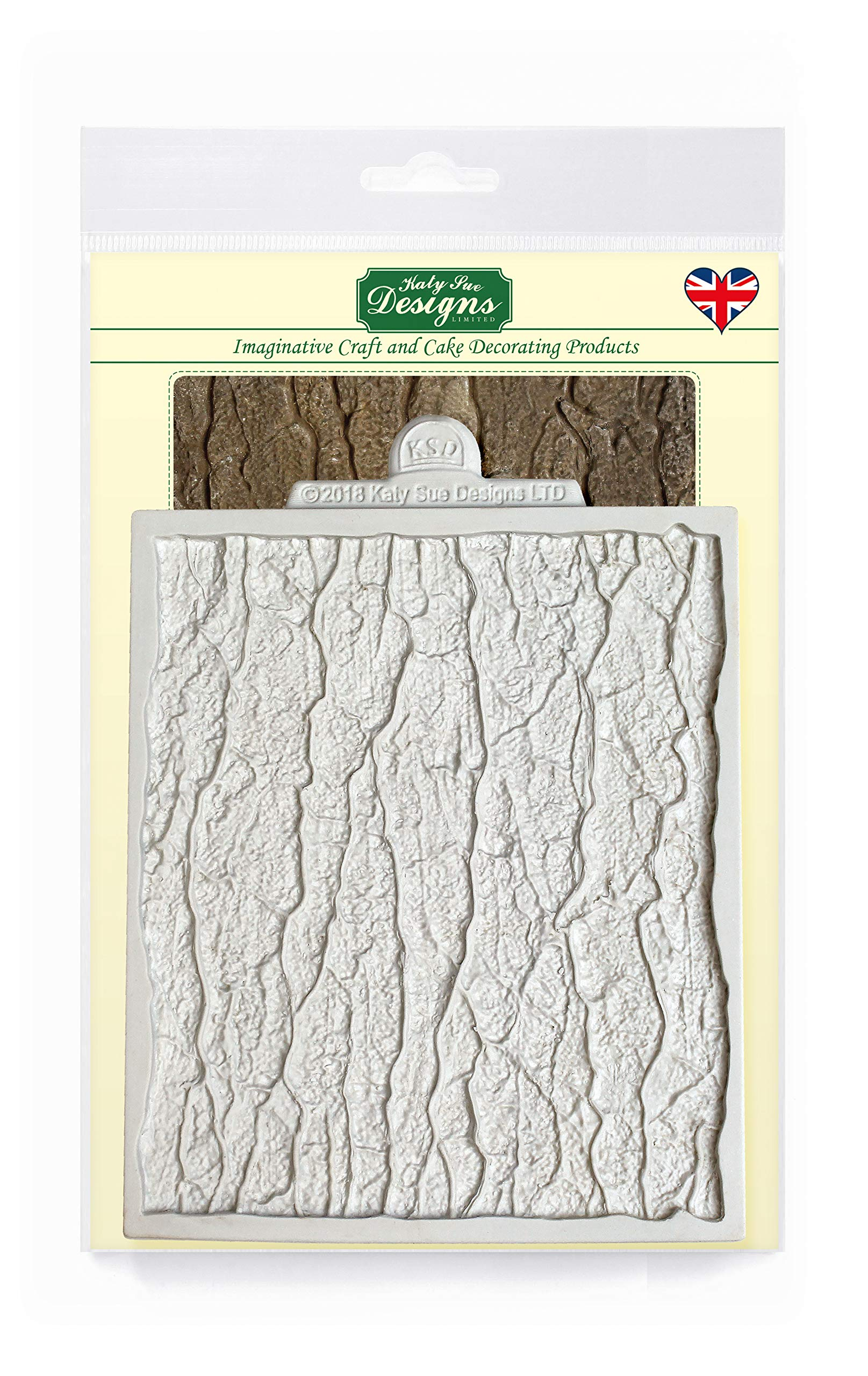Katy Sue Designs Continuous Tree Bark Silicone Mold for Cake Decorating, Cupcakes, Sugarcraft, Candies, Clay, Crafts and Card Making, Food Safe
