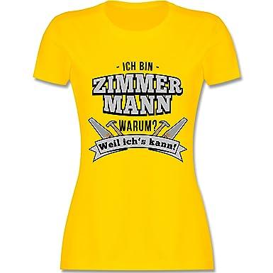 Handwerk - Ich Bin Zimmermann - S - Gelb - L191 - Damen T-Shirt