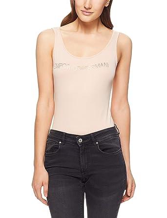 Emporio Armani - Body - sans Manche - Femme - Beige - S  Amazon.fr   Vêtements et accessoires 6a74611a093