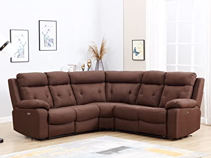 Blackjack Furniture 9443 BROWN PWR Albany Collection Power Recliner, Brown