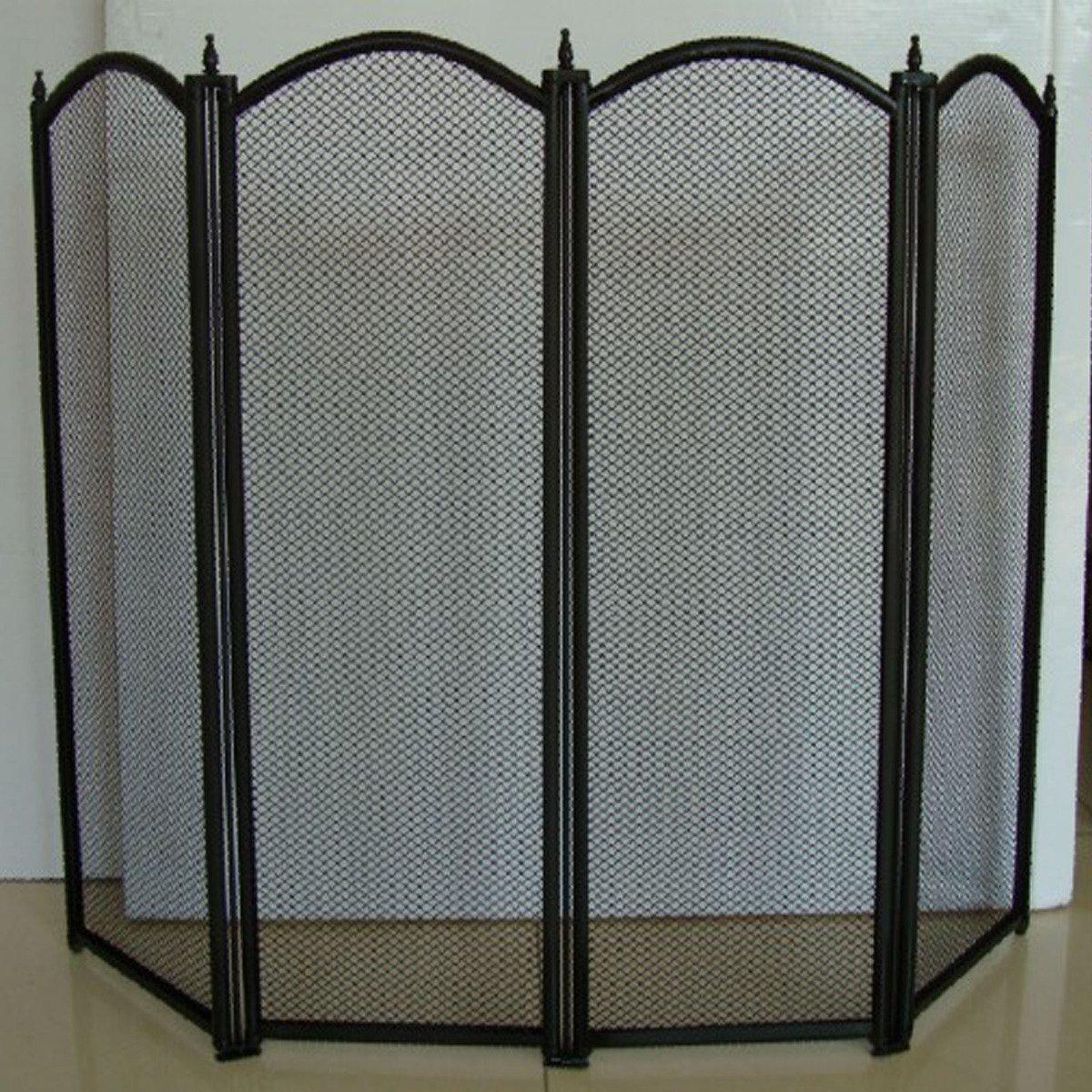 STI Parascintille 4 Ante Elegante 95x62 Elegante Robusto Protezione Accessori stufe