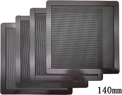 10 Pack 140mm Computer Fan Filter,PC Dust Filter Grills with Screws Ultra Fine PVC Frame Mesh Black Color