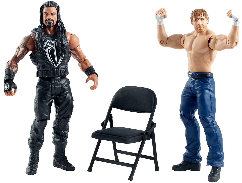 Mattel DTF88 WWE Summer Slam Roman Reigns and Dean Ambrose Figure 2 Pack