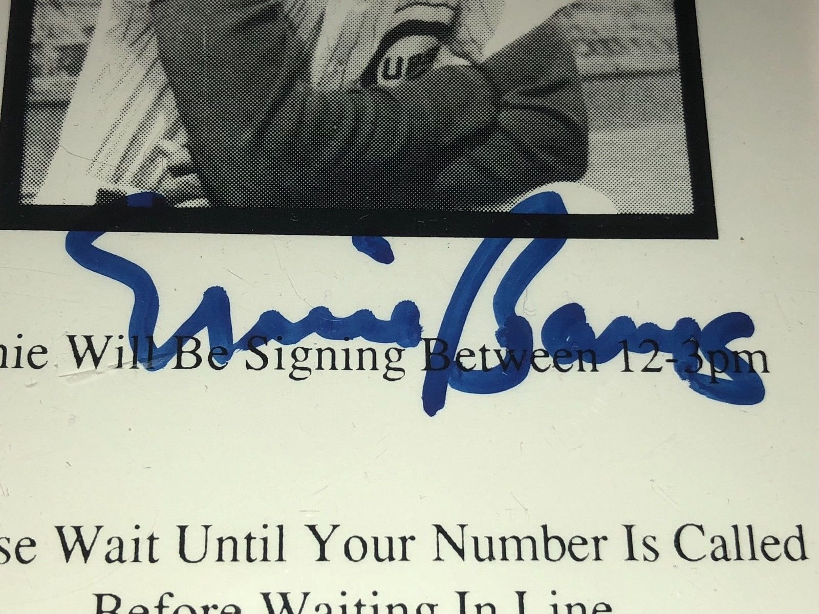 Ernie Banks Autographed Signed Autograph PSA/DNA Authentic Memorabilia Signature Ticket Cubs Hall of Fame Baseball MLB