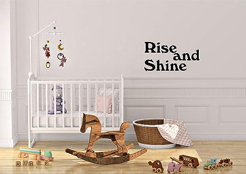 Amazon Com Rise And Shine Decal Room Wall Sticker Vinyl Art Home Decor Handmade