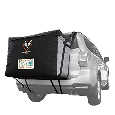Rightline Gear 100B90 Car Back Carrier, 13 cu ft, 100% Waterproof, Attaches With or Without Roof Rack: Automotive