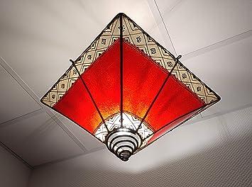 Marrakesch lámpara de Techo, lámpara marroquí, Piel Henna ...