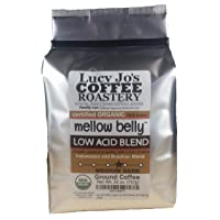 Lucy Jo's Coffee, Organic Mellow Belly Low Acid Blend, Ground, 11 oz (26 OZ)