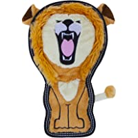 Invincibles Tough Seamz Stuffingless Durable Tough Plush Toy for Dogs, Tough Squeaky Dog Toy by Outward Hound, Medium, Lion