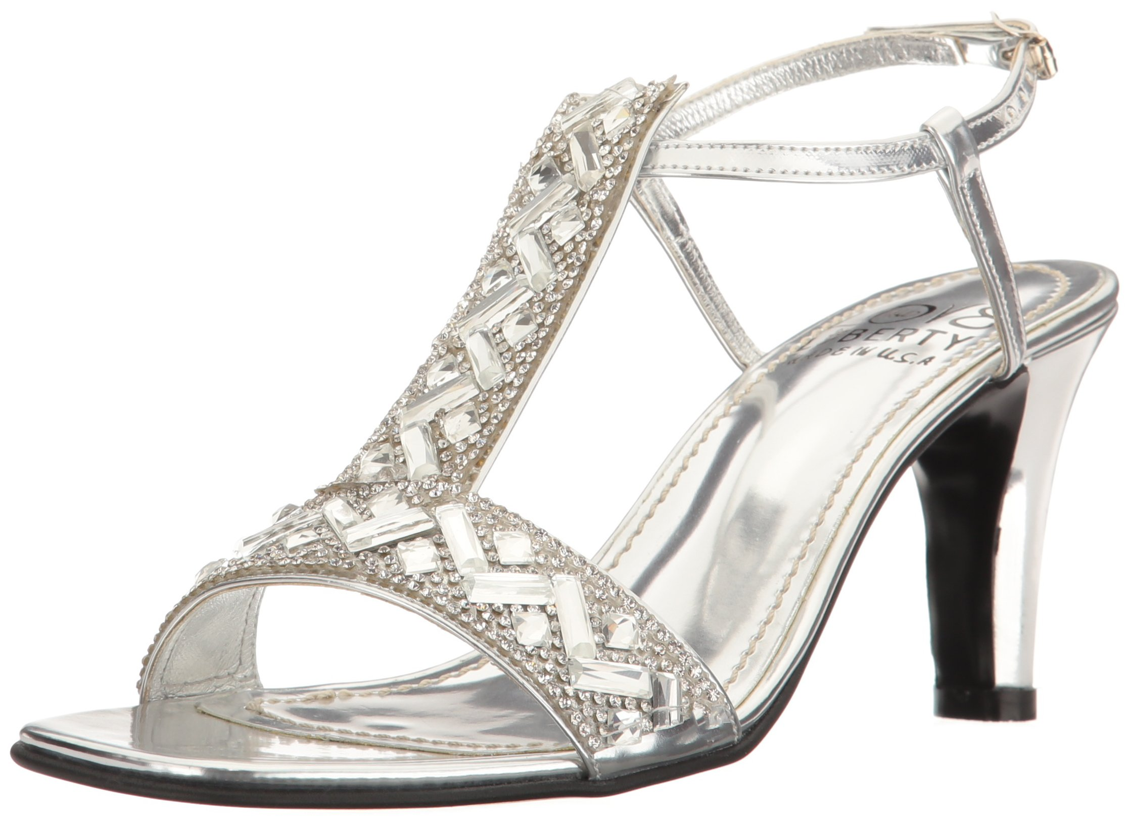 Love & Liberty Women's Savanna-Ll Dress Sandal, Silver, 6 M US