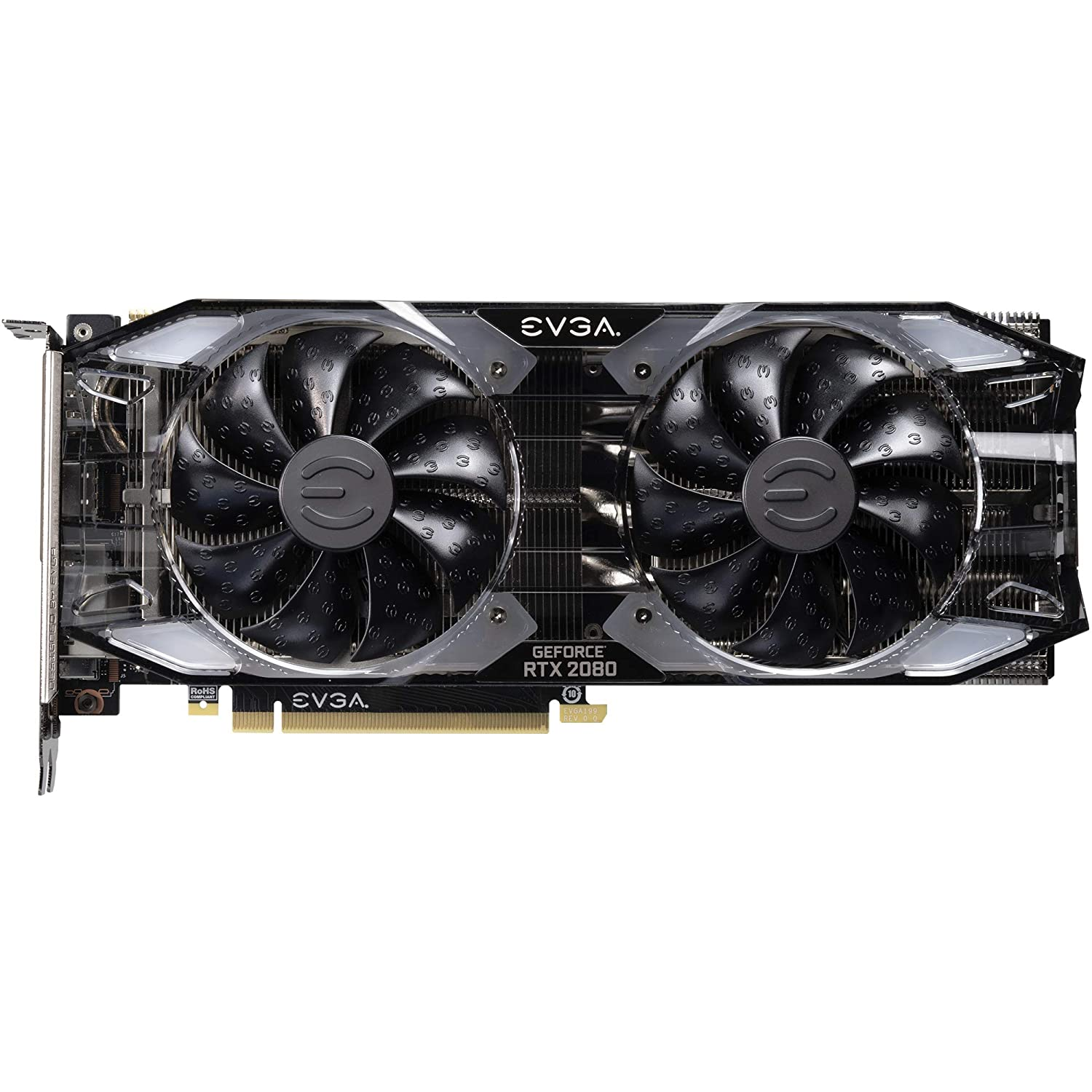 EVGA GeForce RTX 2080 XC GAMING, 8GB GDDR6, Dual HDB Fans & RGB LED  Graphics Card 08G-P4-2182-KR
