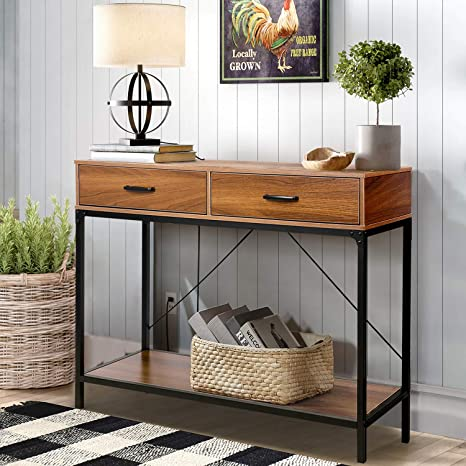 Amazon Com Console Table Narrow Hallway Table For Entryway Hallway Living Room Foyer Kitchen Dining