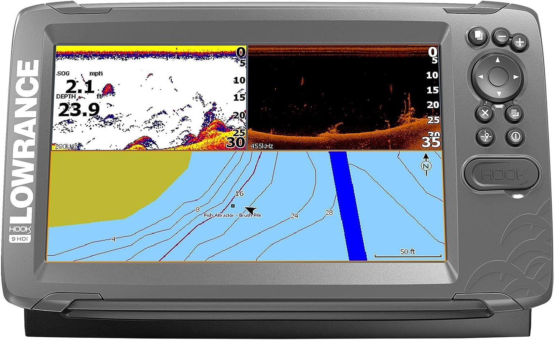 Lowrance 000-14182-001 Hook2 Splitshot HDI - Localizador de Peces y Plotter de Tarjetas (22,86 cm/9