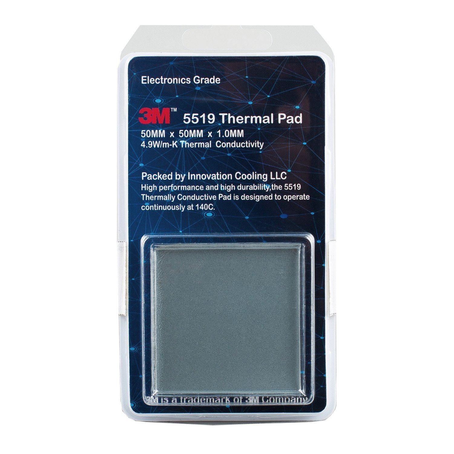 Innovation Cooling 3M 5519 High Performance Electronics Grade Thermal Pad, 50 x 50 x 1mm
