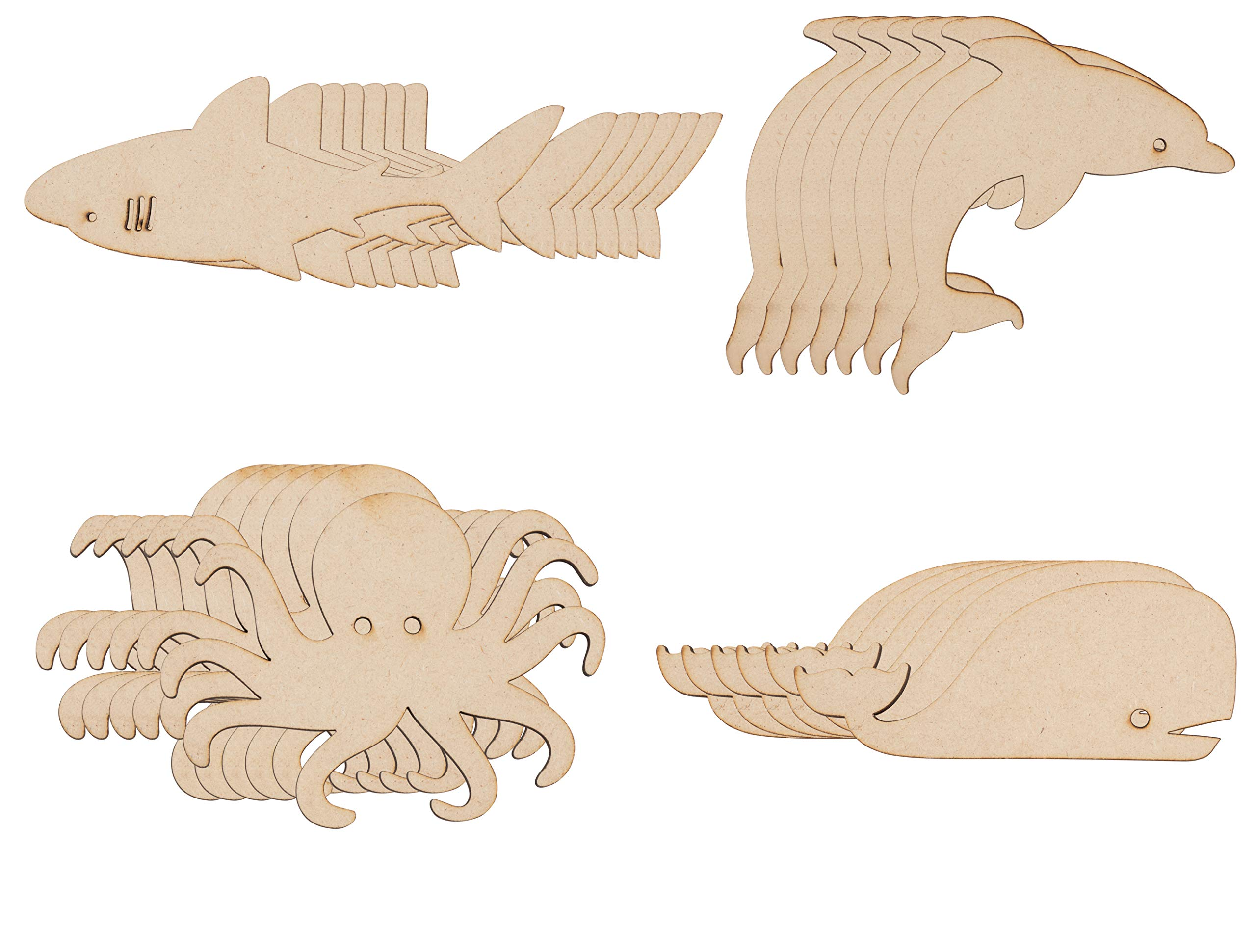 Unfinished Wood Craft Dolphin