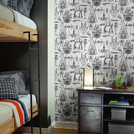 Roommates Star Wars Blueprint Peel And Stick Wallpaper