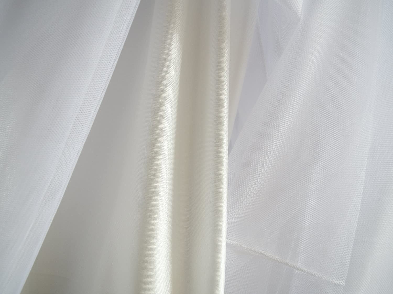 SYEEGCS Falda Larga de Tul de Alta Cintura el/ástica de Las Mujeres Elegante 3 Capas de Tul