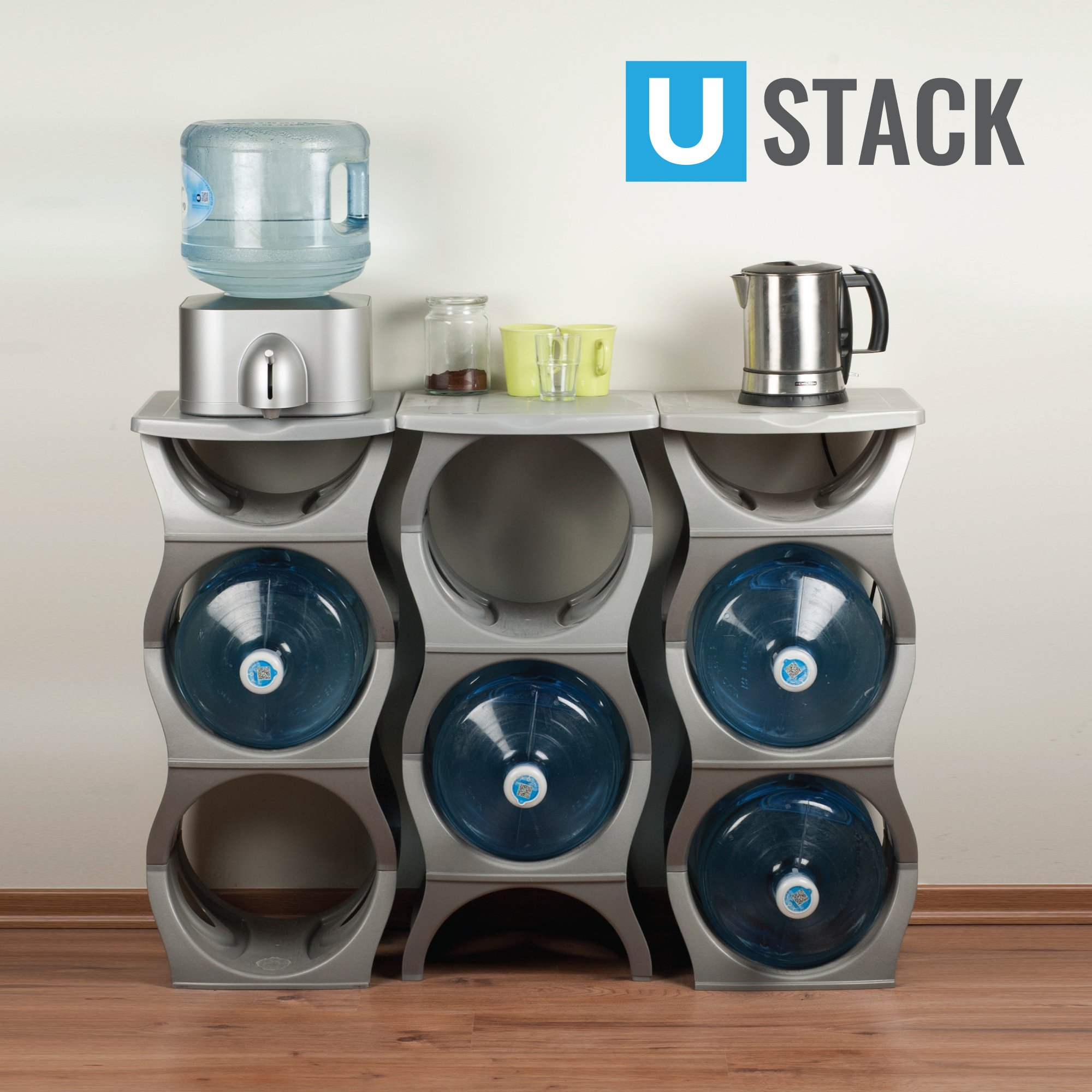 U STACK Water Bottle Storage Rack Holds Three