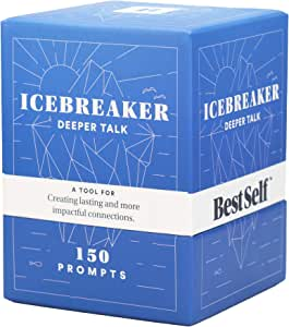 BestSelf Co. Conversation Starter Icebreaker Deck Powerful Tool to Establish and Strengthen Relationships by Cultivating Open, Engaging, Deeper and Meaningful Interactions ― 150 Prompts