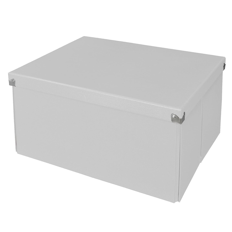 Pop N Store - Caja de almacenamiento con tapa, blanco, Large Mega Box: Amazon.es: Oficina y papelería