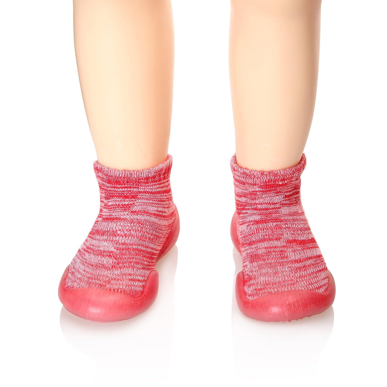 SEEYAN Childrens Toddlers Moccasins Anti-Slip Slipper Floor Breathable Cotton Kids Baby Boys Girls Indoor Outdoor Shoes Socks
