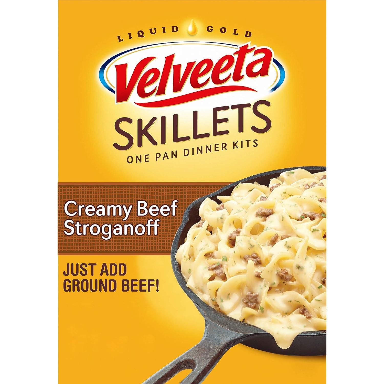Velveeta Kraft Cheesy Skillets Dinner Kit Box, Creamy Beef Stroganoff, 11.6 Ounce