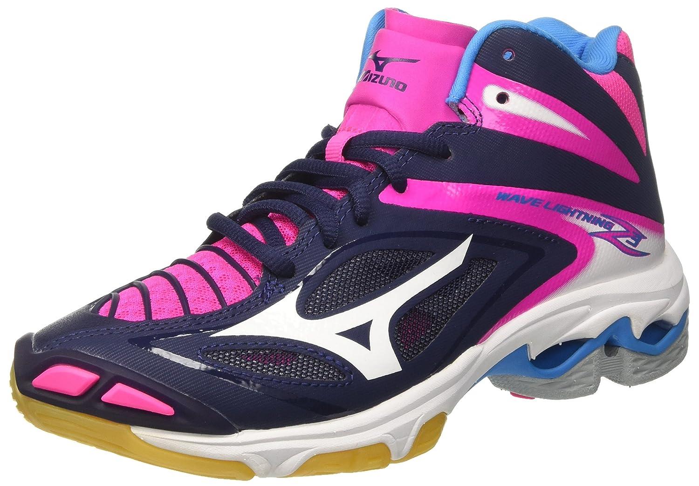 Damen Wave Lightning Z4 WOS Volleyballschuhe, Pink (Pinkglowhiteirongate), 40 EU Mizuno