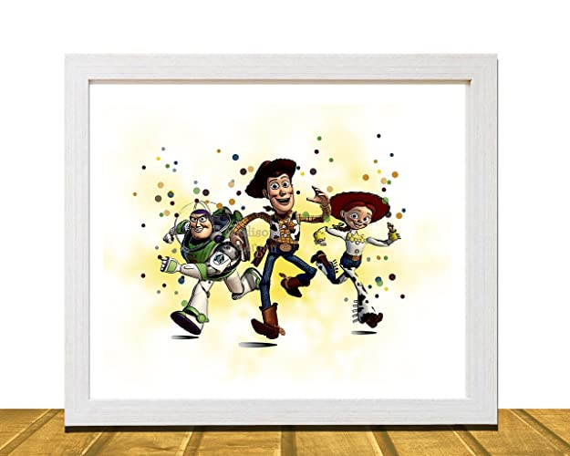 Amazon.com: Toy Story Inspired Wall Art, Watercolor Disney Inspired ...