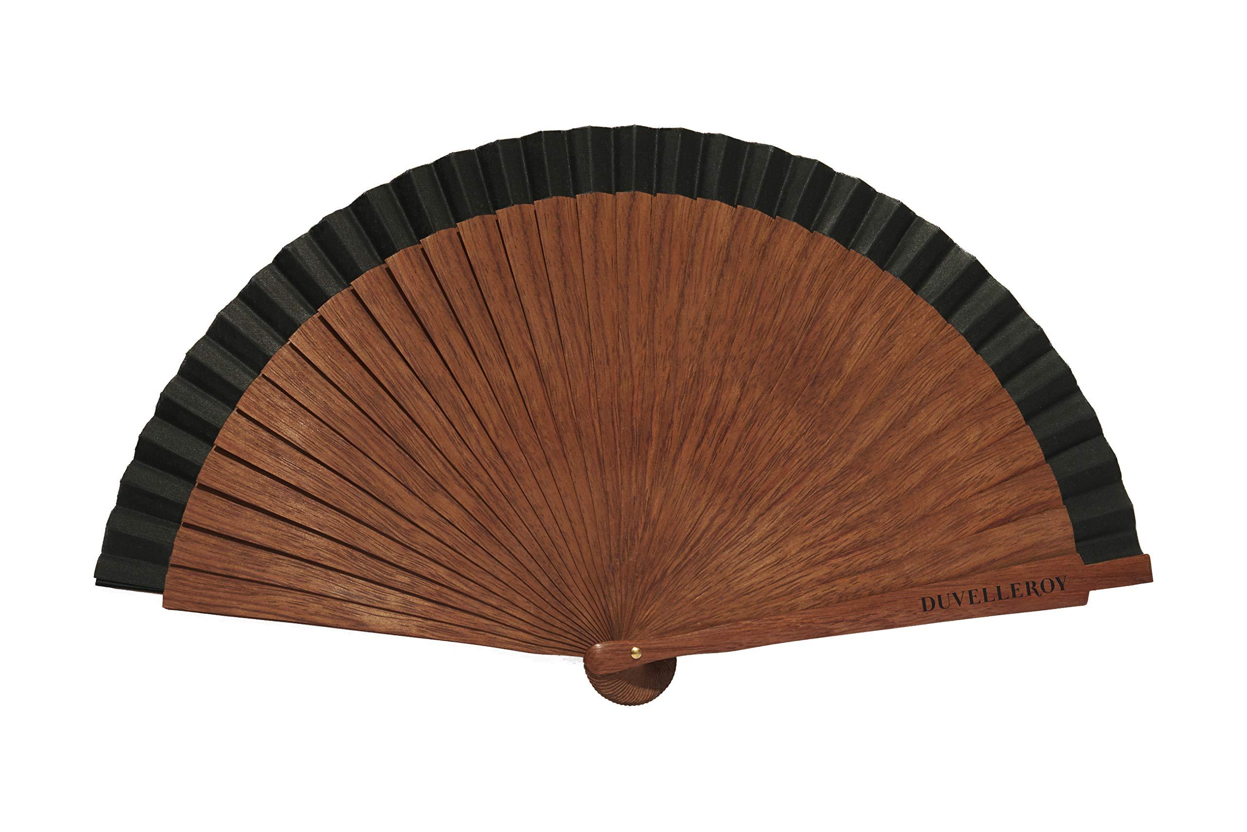 La Perfection Louis Pocket Hand Fan Bokapi Wood by DUVELLEROY Paris 1827 Made in France by La Perfection Louis (Image #1)