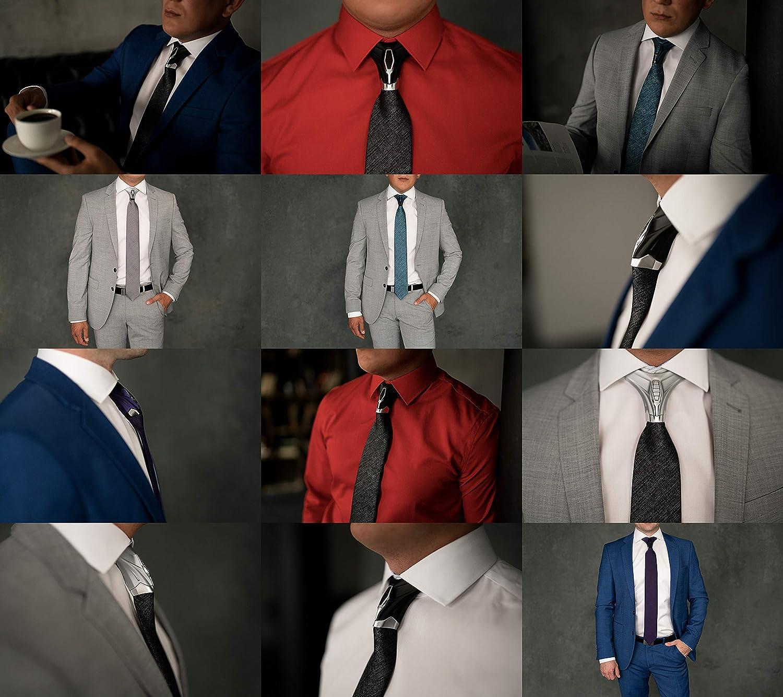 BARBATTIE Corbata de diseño, color negro, patrón estructurado, 7 ...