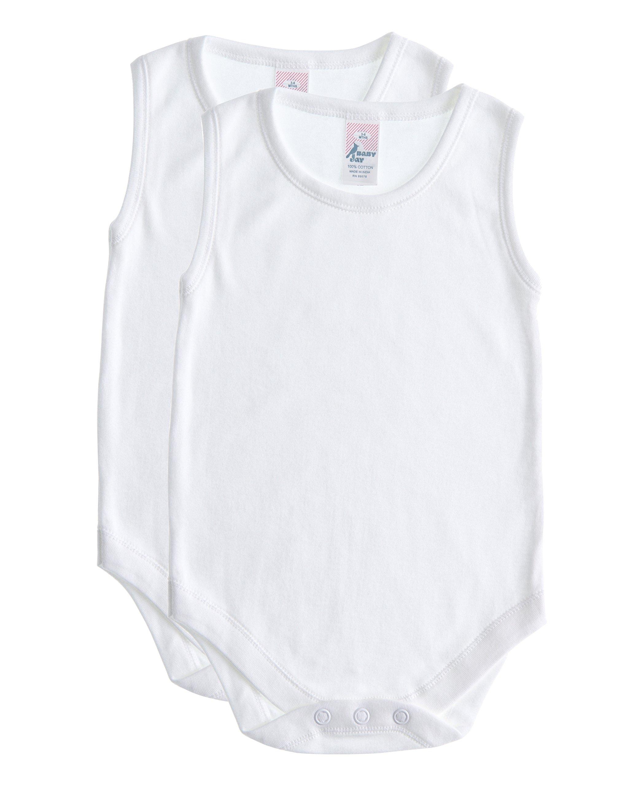Soft Cotton Sleeveless Onesie Bodysuit, WSNR 36-48 2-Pack