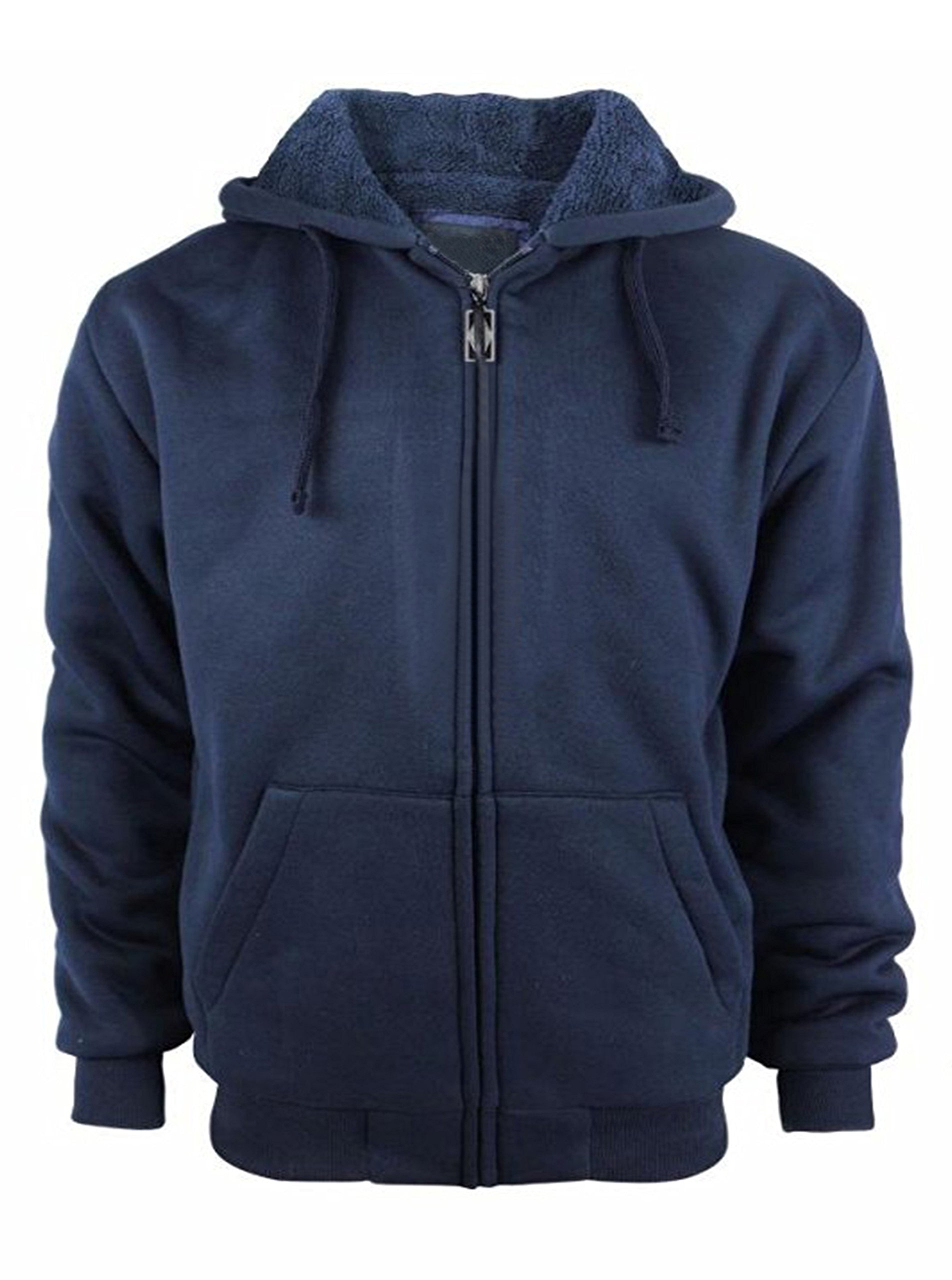 Mens Casual Fashion Active Jersey Slim Fit Hooded Zip Front Jacket Navy Medium by GEEK LIGHTING