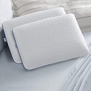 Sleep Innovations Forever Cool Gel Memory Foam Pillow, Standard Size, Made in The USA