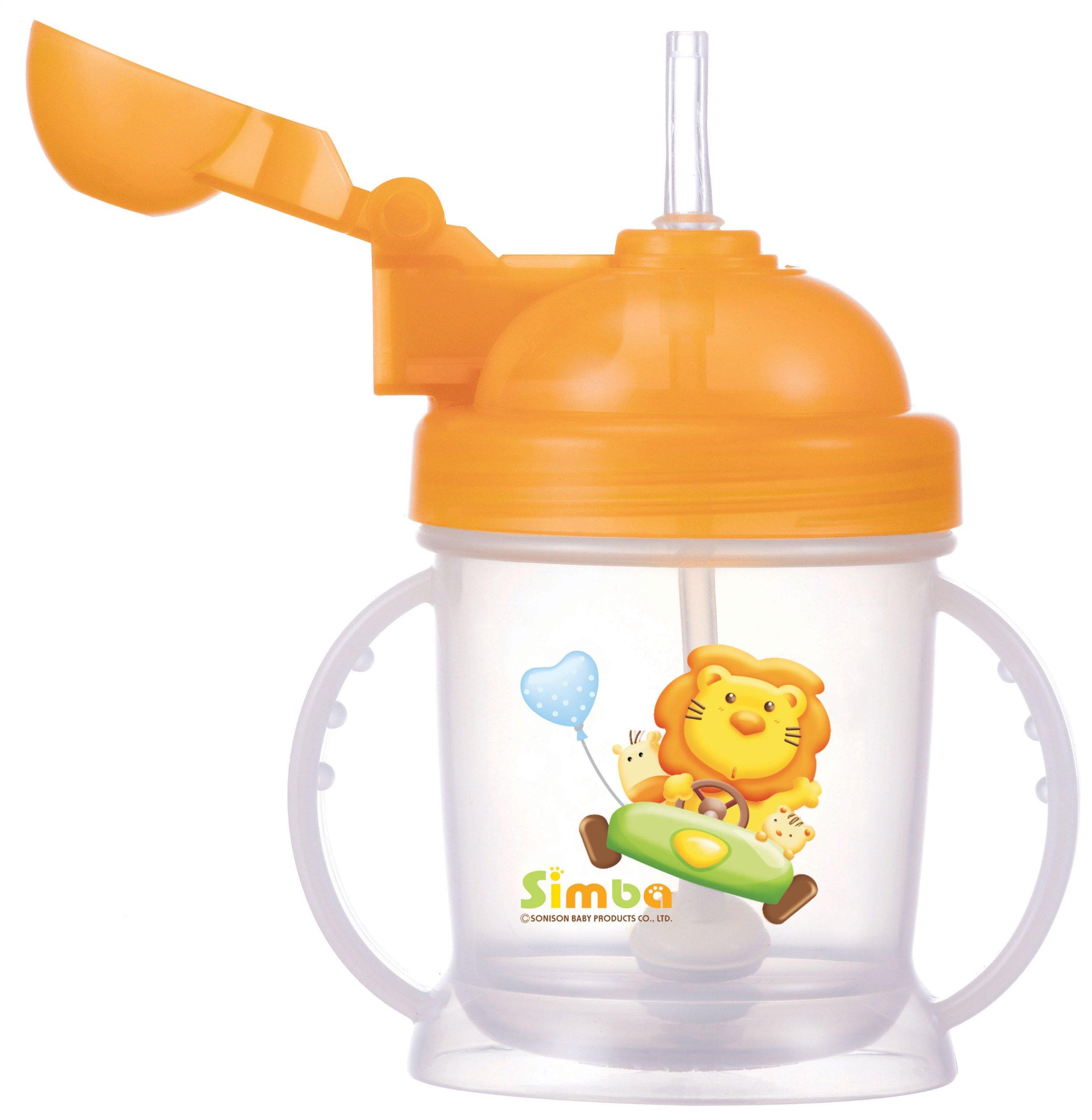 e425fb48f0a3 Amazon.com   Simba BPA Free Baby Training Cup w  360° Auto Straw (Orange