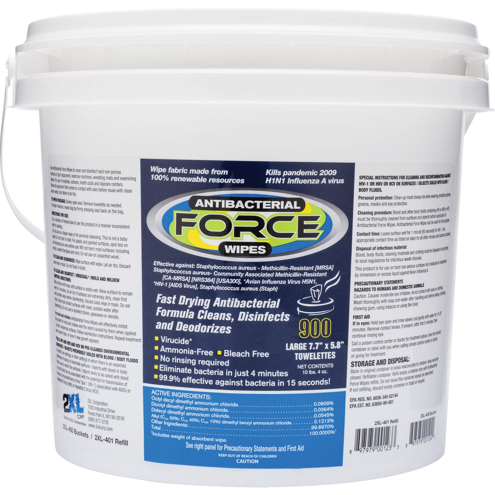 2XL L400 Antibacterial Force Wipes Dispensing Bucket
