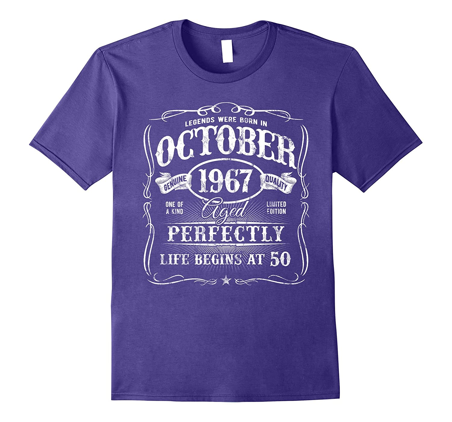 Legends Were Born In October 1967 T-Shirt 50th Birthday Gift-T-Shirt